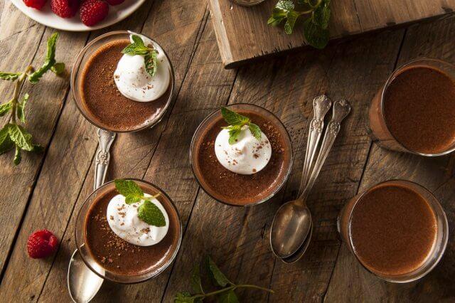 Cremoso de chocolate y aguacate