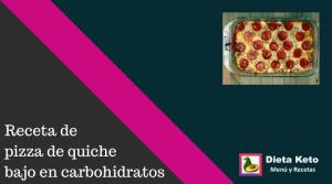 Pizza de quiche bajo en carbohidratos