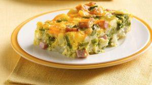 Receta de pastel de jamón y espárragos