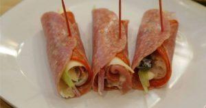 Receta de rollitos de salami