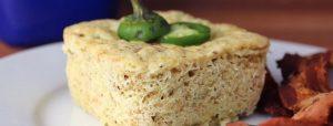 Receta de torta de jalapeño en taza