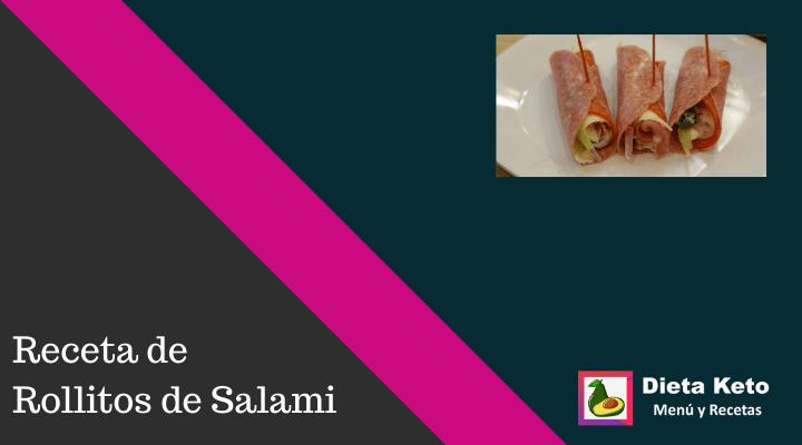 Rollitos de salami keto