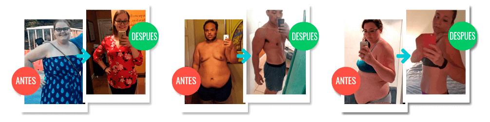 Antes y después bajar de peso en 2 semanas